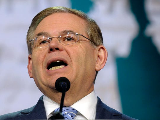 In this March 5, 2013 file photo, Senate Foreign Relations Committee Chairman Sen. Robert Menendez, D-N.J. speaks in Washington.