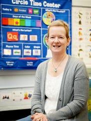 Miriam Keeter, a breast cancer survivor, in her classroom