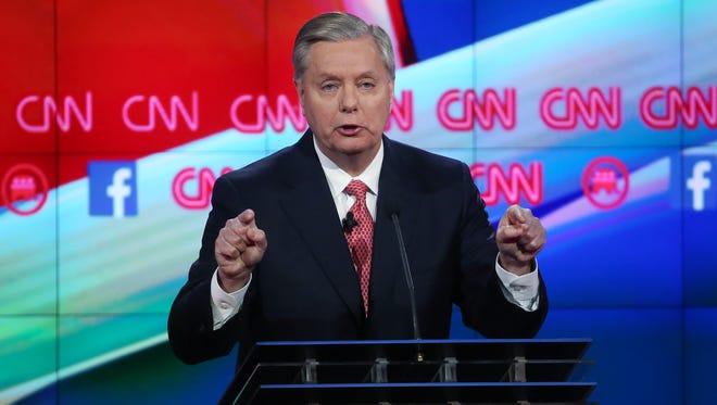 South Carolina Sen. Lindsey Graham at the Dec. 15, 2015, GOP debate in Las Vegas.