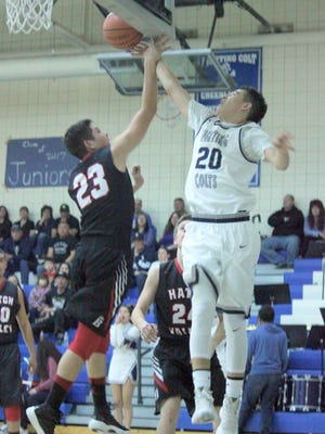 Silver's Tyler Gonzales gets fouled as he goes to the rim Friday night against Hatch Valley. He finished with six points against the Bears and nine against Mesilla Valley the following day.