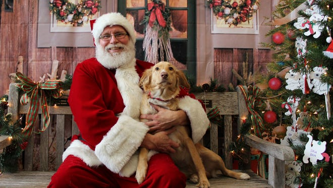 Santa will visit the York County SPCA on Saturday, Dec.5, and again on Saturday, Dec. 12, to have his photo taken with pets.