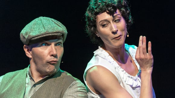 """Ed Popil with Brynn Lucas in """"Funny Girl"""" at the JCC."""