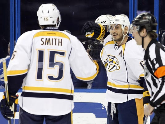 NHL: Nashville Predators at Tampa Bay Lightning