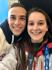 Lansing's Carlyn Matheny poses with U.S. figure skater