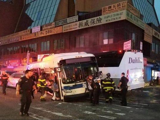 Queens bus crash