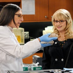 Mayim Bialik, left, who has a Ph.D. from UCLA, and Melissa Rauch star in CBS' 'The Big Bang Theory.'