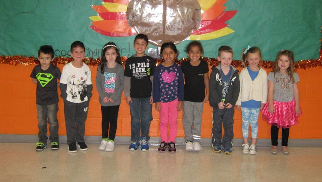 Kindergartners named Students of the Month for November at Janvier School in Franklin are: Erick Gonzalez, Franco Silvestri, Isabella Heinemann, Nash Ridgeway, Aashi Bhatt, Veyonna Grady, Francie Ciabattoni, Cambria Currie and Mikayla Carr.