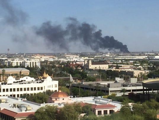 Fire near Sky Harbor Airport.