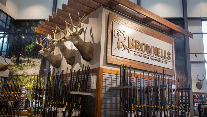 Brownells started in the 1930s as a hobby for its bedridden founder. The third generation now has a new 7,000-square-foot retail store, shown here, and 200,000-square-foot warehouse.