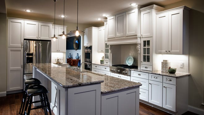 Countertop islands can be in multiple levels so it is one part dining, one part work space.