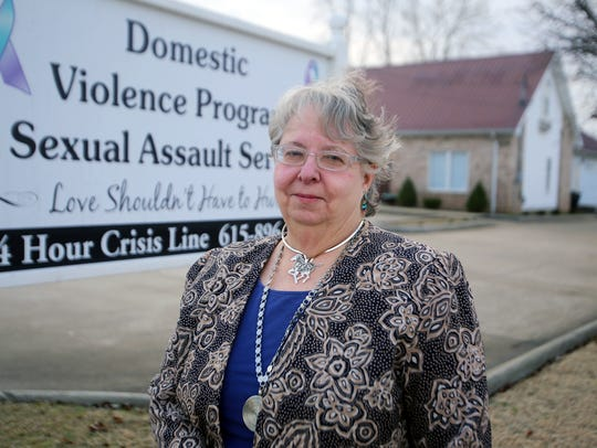 Deb Johnson of the Domestic Violence Program.