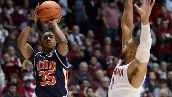 Auburn basketball vs Alabama at Coleman Coliseum on Saturday, Feb. 4, 2017, in Tuscaloosa, Ala.