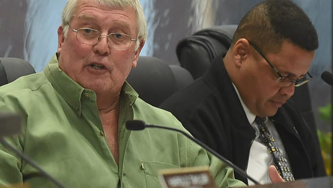 Council Member Wayne Ardoin, left, says a burn ban in rural communities might need to be revisited.