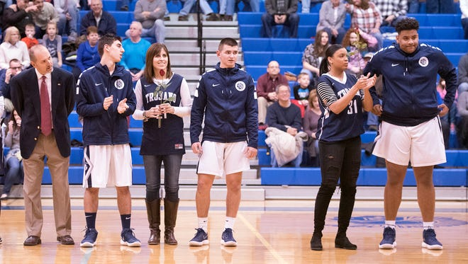 Chambersburg hosted Central Dauphin East in basketball on Tuesday, Feb. 6, 2018. The Trojans won 63-34.