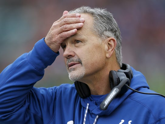 Indianapolis Colts head coach Chuck Pagano was not