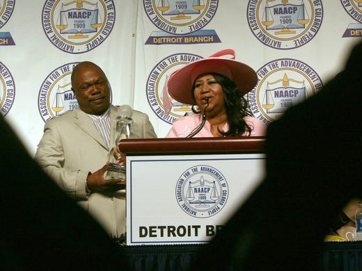 All cameras were on Aretha Franklin while Rev. Wendell