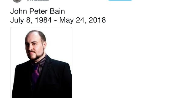 A tribute appears on the verified Twitter account for