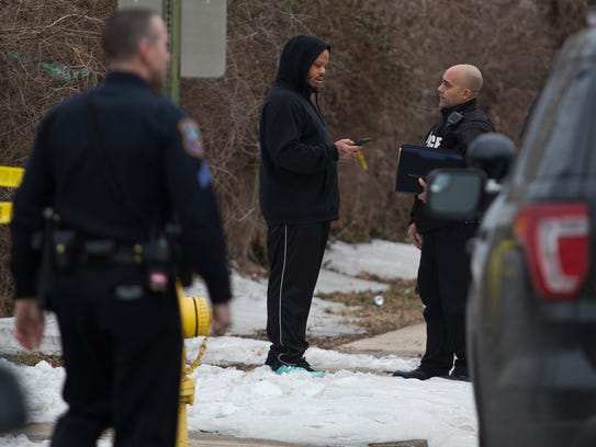 Wilmington police investigate the scene of a shooting in the 2700 block of N. Claymont St. on Wednesday afternoon.
