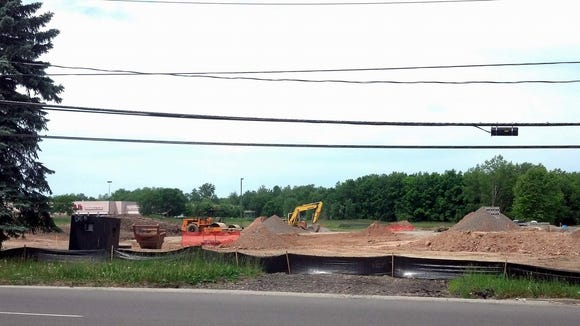 Construction is proceeding apace on the new Dairy Queen on Hard Road.