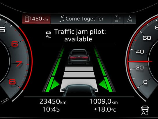 Audi's Traffic Jam Pilot allows drivers to let the