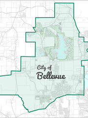 Proposed boundaries for the City of Bellevue