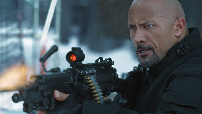 """Hobbs (Dwayne Johnson) is ready for action in """"The Fate of the Furious."""""""