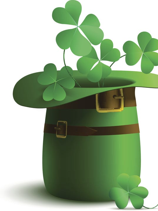 Vector illustration of a leprechaun hat on a white background.