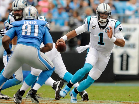 Cam Newton Panthers Lions