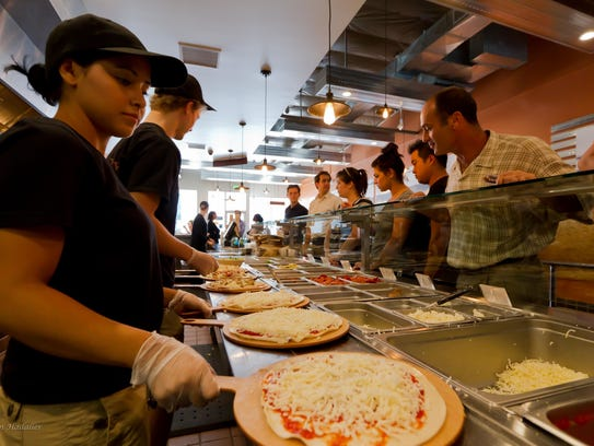 PizzaRev is a build-your-own pizza restaurant that
