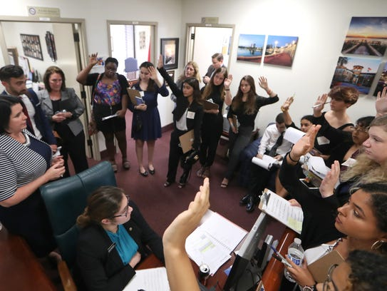 High school students from Broward County, including