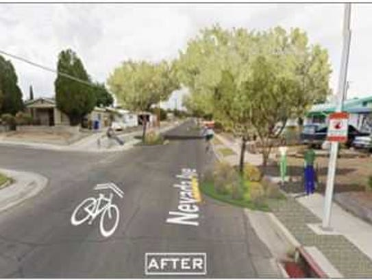 An artist's rendering of what the intersection of Bellamah