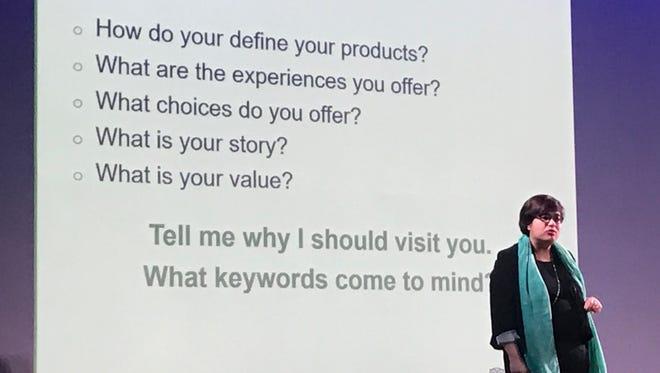 In this Jan. 23 file photo, Sarah Matthews, TripAdvisor's head of destination marketing Asia Pacific, speaks at a tourism seminar.