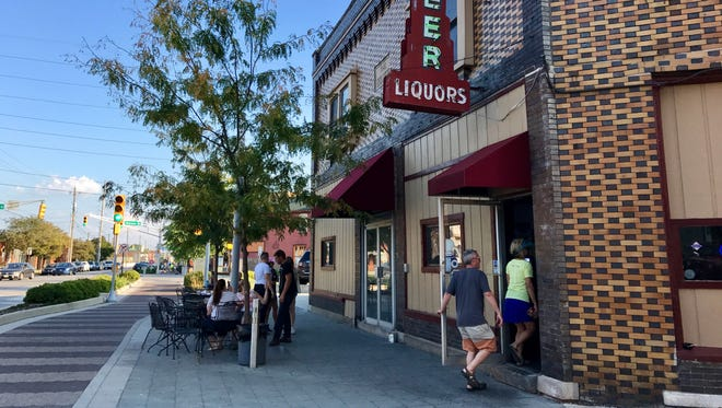 The Dugout bar sits along the Indianapolis Cultural Trail on Virginia Avenue in the Fletcher Place neighborhood.