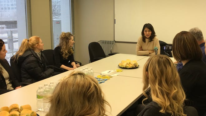 Rep. Kristi Noem spoke with a group Thursday in Sioux Falls.