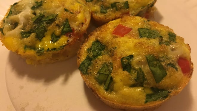 These omelet muffins are a quick and easy way to have a ready-made, nutritional breakfast.