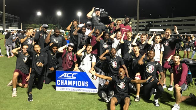 The Florida State men's track & field team captured the program's 12th ACC Outdoors title, beating out Syracuse and Virginia Tech on Saturday night in Miami.