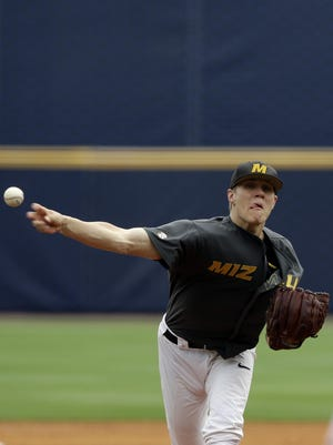 Missouri's Tanner Houck is 8-5 this season with a 3.49 ERA and 91 strikeouts in 100.2 innings.