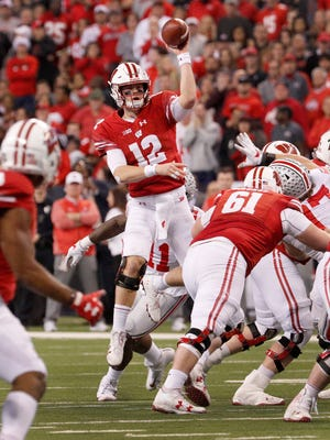 Alex Hornibrook completed 65 of 117 attempts for an average of 14.5yards per completion on third down last season.