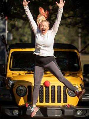 Marlo Alleva jumps for joy.