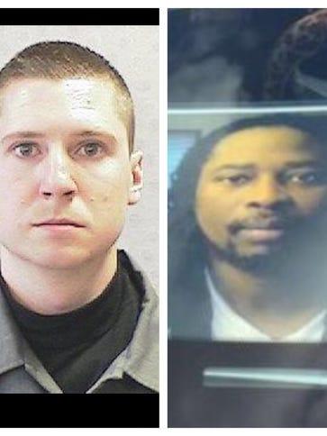 Officer Ray Tensing (left) and Samuel DuBose