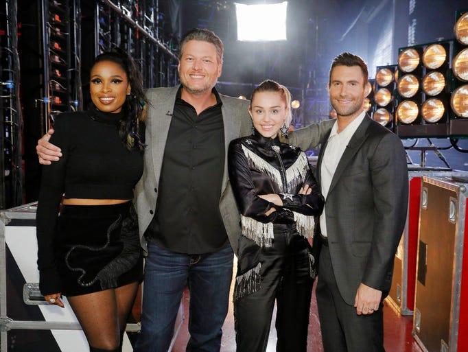 'The Voice' coaches Jennifer Hudson, Blake Shelton,