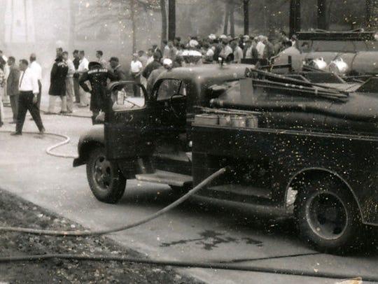 Fayetteville Volunteer Fire Company's 1942 Dodge tanker