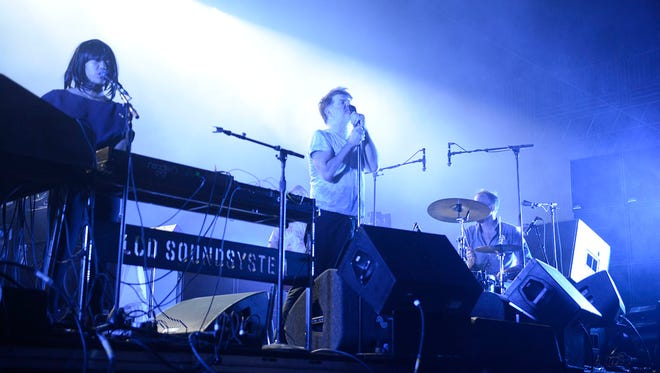 LCD Soundsystem on the main stage at the Bonnaroo Music and Arts Festival in Manchester, Tenn on Friday, June 10, 2016.