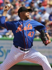 Hansel Robles threw a scoreless second inning for the Mets. The Mets played their first game of the exhibition season.