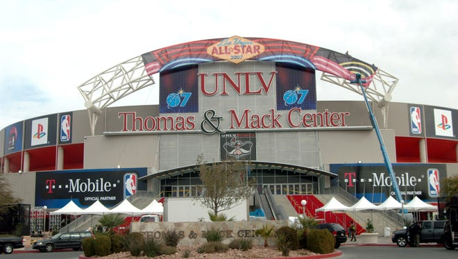 In this photo provided by the Las Vegas News Bureau, the Thomas & Mack Center is shown in 2007.
