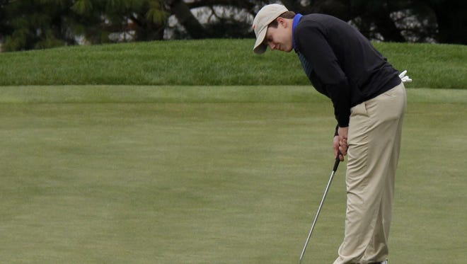 Greenwood senior Tom Montileone was instrumental in a pair of tournament victories the Blue Jays enjoyed at Springfield Golf and Country Club and Fremont Hills between April 10 and April 15, 2017.