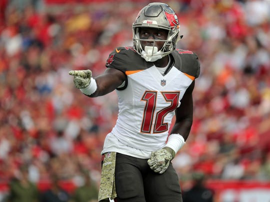 Tampa Bay Buccaneers coach Bruce Arians said he believes wide receiver Chris Godwin could catch 100 passes.