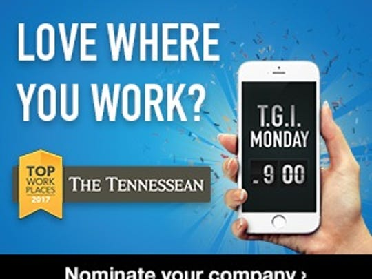 Nominate the Top Workplaces in Middle Tennessee