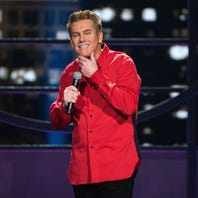 Comedian Brian Regan hits million-mile mark, comes in for landing at Saenger Theater