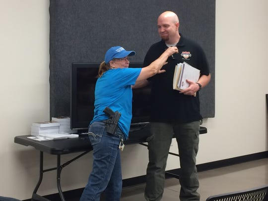 Kathy Richardson, a Texas Licensed to Carry Handguns
